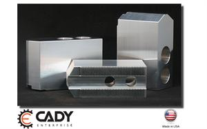 CADY BRAND ALUMINUM 1.5MM x 60° SERRATED LATHE JAWS